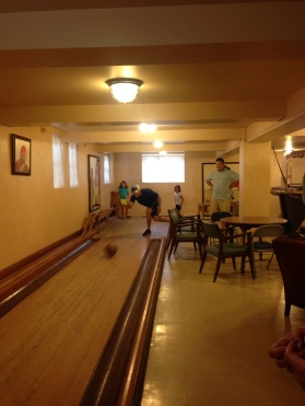 Bowling in the Reynolds Mansion, Sapelo Island, GA