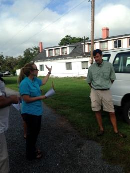 Our guides SINERR Research Coordinator Rachel Guy and Education Coordinator Adam Mackinnon