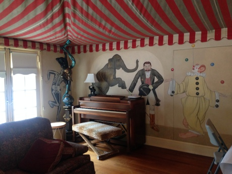 The Circus Room at the Reynolds Mansion on Sapelo Island, GA