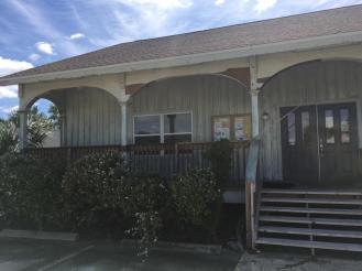 GTM Marineland Office after Hurricane Matthew on October 8th. Photo courtesy of Todd Osborne
