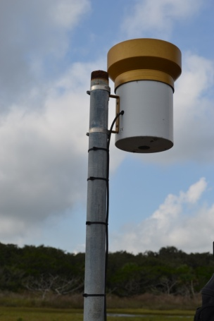 Rain bucket from GTMNERR meteorological station